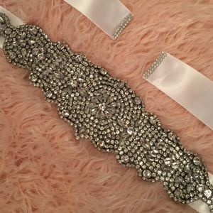 Rhinestone Wedding sash belt
